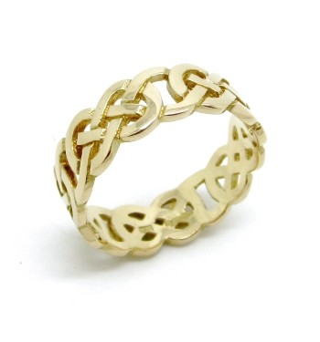 fit in celtic knot gold mens men eternity ring rings for comfort wedding band white