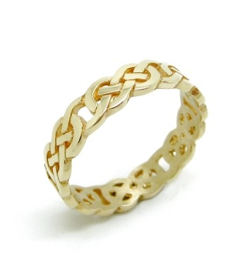 18ct Yellow Gold Ladies Celtic Knot Wedding Ring Jewellers Bingley
