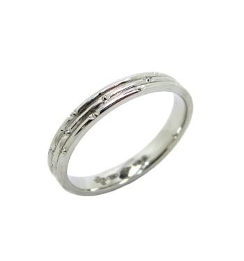 Platinum Wedding Rings.Ladies 3mm Patterned Platinum Wedding Ring